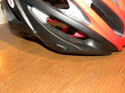 ヘルメットのコネクタ部分の穴 ...